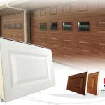 puerta seccional cuarterones woodgrain