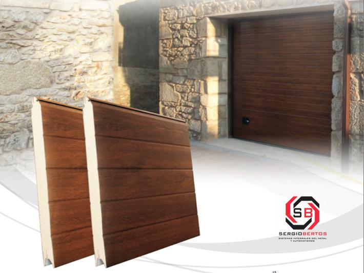 Presupuesto online para comprar puertas seccionales - Puertas de aluminio imitacion madera ...