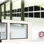 puerta seccional aluminio acrilico