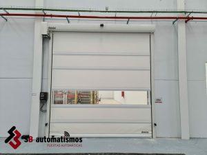 puerta rápida de lona PVC